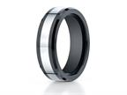 Benchmark 7mm Tungsten Forge Wedding Ring with Seranite Edge Style number: CF67860CMTG