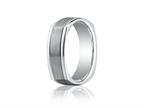 Benchmark 7mm Comfort-fit Satin-finished Parallel Center Cuts Four-sided Carved Design Band Style number: EURECF77334