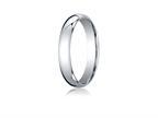 Benchmark 18k Gold 4mm Slightly Domed Standard Comfort-fit Ring Style number: LCF14018K