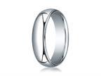 Benchmark 18k White Gold 6mm Slightly Domed Standard Comfort-fit Ring With Milgrain Style number: LCF36018K