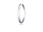 Benchmark Platinum 2.0mm Traditional Dome Oval Ring Style number: PT120P