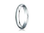 Benchmark Platinum 4mm Slightly Domed Standard Comfort-fit Ring Style number: PTCF140P