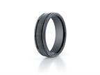 Benchmark Ceramic 6mm Comfort-fit Satin-finished Round Edge Design Ring Style number: RECF7602SCM