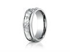 Benchmark 7mm Titanium Comfort Fit Hammered-Finished  Wedding Band / Ring Style number: TI67502