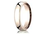 Benchmark® 14k Rose Gold 5.5mm European Comfort-fit Ring style: EUCF15514KR