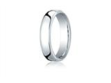 Benchmark® 18k White Gold 5.5mm European Comfort-fit Ring style: EUCF15518K