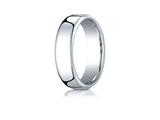 Benchmark® Cobalt Chrome™ 6.5mm European Comfort-fit Design Ring style: EUCF165CC