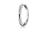 <b>Engravable</b> Benchmark® 3mm Comfort Fit Diamond Wedding Band / Ring style: LCF130D