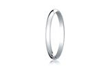 Benchmark® Platinum 2.0mm Traditional Dome Oval Ring style: PT120P