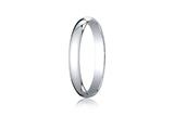 <b>Engravable</b> Benchmark® Platinum 3.0mm Traditional Dome Oval Ring style: PT130P