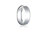 <b>Engravable</b> Benchmark® Platinum 6.0mm Traditional Dome Oval Ring style: PT160P