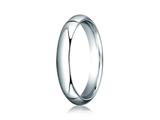 <b>Engravable</b> Benchmark® Platinum 4mm Slightly Domed Standard Comfort-fit Ring style: PTCF140P