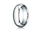 Benchmark® Platinum 7mm Slightly Domed Standard Comfort-fit Ring style: PTCF170P