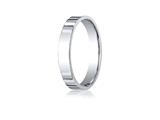 <b>Engravable</b> Benchmark® Platinum 4.0mm Flat Comfort-fit Ring style: PTCF240P