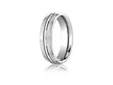 <b>Engravable</b> Benchmark® Platinum 6mm Comfort-fit Satin-finished With High Polished Center Cut Carved Design Band style: PTCF56411P