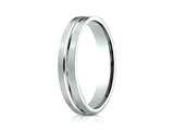 <b>Engravable</b> Benchmark® 4mm Comfort Fit Wedding Band / Ring style: PTCF64411P