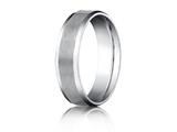 <b>Engravable</b> Benchmark® Platinum 6mm Comfort-fit Satin-finished With High Polished Beveled Edge Carved Design Band style: PTCF66416P