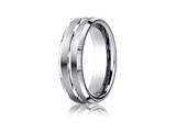 <b>Engravable</b> Benchmark® Platinum 6mm Comfort-fit Satin-finished With High Polished Cut Carved Design Band style: PTCF66439P