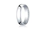 <b>Engravable</b> Benchmark® Platinum 5.5mm European Comfort-fit Ring style: PTEUCF155P