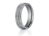 <b>Engravable</b> Benchmark® 6mm Comfort Fit Tungsten Carbide Wedding Band / Ring style: RECF7602STG