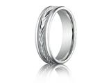 Benchmark® Palladium 6mm Comfort-fit Harvest Of Love Round Edge Carved Design Band style: RECF7603PD