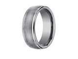 <b>Engravable</b> Benchmark® 8mm Comfort Fit Tungsten Carbide Wedding Band / Ring style: RECF7802STG