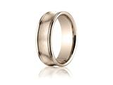 Benchmark® 7.5mm Comfort-fit Satin-finished Concave Round Edge Carved Design Band style: RECF8750014KR