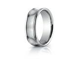 Benchmark® 7.5mm Comfort-fit Satin-finished Concave Round Edge Carved Design Band style: RECF8750018K