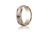 Benchmark® 7.5mm Comfort-fit Satin-finished Double Round Edge Carved Design Band style: RECF8750314KR