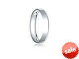 <b>Engravable</b> Benchmark® 14k Gold 4.0mm Traditional Dome Oval Ring style: 140