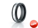 <b>Engravable</b> Benchmark® 7mm Tungsten Forge® Wedding Ring with Seranite Edge style: RECF77864CMTG