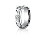 <b>Engravable</b> Benchmark® 7mm Titanium Comfort Fit Hammered-Finished  Wedding Band / Ring style: TI67502