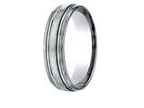 Benchmark® Titanium 6mm Comfort Fit Design Wedding Band / Ring style: TICF56444