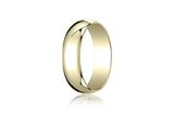 <b>Engravable</b> Benchmark® 18k Gold 6.0mm Traditional Dome Oval Ring style: 16018K