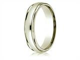 Benchmark® 14k All Gold 4mm Comfort-fit High Polished Carved Design Band style: CF15408