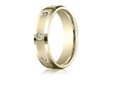 Benchmark® 6mm Round 0.32 cttw Diamonds Mens Band style: CF526132