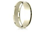 Benchmark® 14 Karat Gold 7mm Comfort-fit High Polish Round Edge Cross Hatch Center Design Band style: CF67469