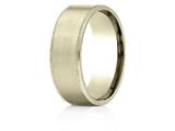 Benchmark® 18k Gold 8mm Comfort-fit Riveted Edge Satin Finish Design Band style: CF6843418K