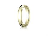 Benchmark® 10k Gold 4.5mm European Comfort-fit Ring style: EUCF14510K