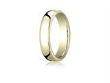 Benchmark® 10k Gold 5.5mm European Comfort-fit Ring style: EUCF15510K