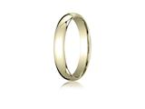 Benchmark® 18k Gold 4mm Slightly Domed Standard Comfort-fit Ring style: LCF14018K