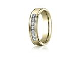 Benchmark® 6mm Comfort Fit Diamond Wedding Band / Ring style: RECF516516