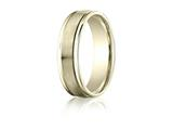 Benchmark® 6mm Comfort Fit Wedding Band / Ring style: RECF7602S18K