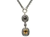 Citrine and Smoky Quartz Sterling Silver Necklace by Effy Collection style: 520097