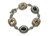 Citrine and Smoky Quartz Sterling Silver Bracelet by Effy Collection style: 520100