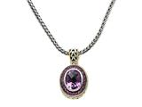 Amethyst Sterling Silver Necklace by Effy Collection style: 520103