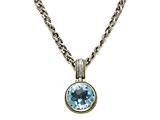 Blue Topaz Sterling Silver Necklace by Effy Collection style: 520111