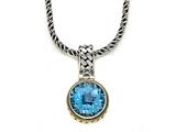 Silver and 18kt Yellow Gold Genuine Blue Topaz Necklace by Effy Collection® style: 520140