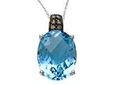 Genuine Blue Topaz Pendant by Effy Collection® style: 520183
