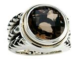 Balissima By Effy Collection Sterling Silver and 18k Yellow Gold Smoky Quartz Ring style: 520343